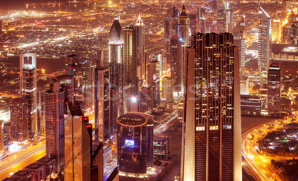 Dubai city at night Stock photo © Anna_Om