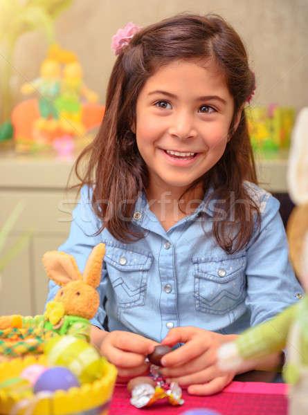Pascua vacaciones retrato agradable nina Foto stock © Anna_Om