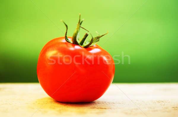 Primo piano rosso pomodoro poco profondo alimentare Foto d'archivio © Anna_Om