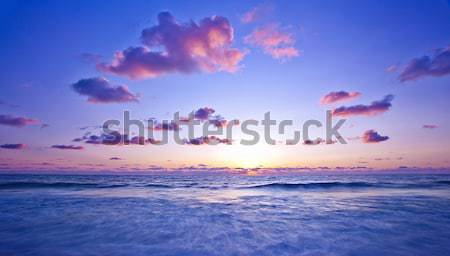 Pink sunset on the beach Stock photo © Anna_Om