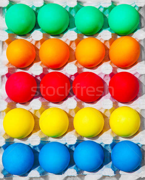 Colorful Easter eggs Stock photo © Anna_Om