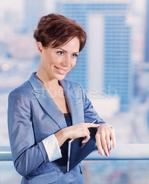деловая женщина ждет кто-то портрет Привлекательная женщина Сток-фото © Anna_Om