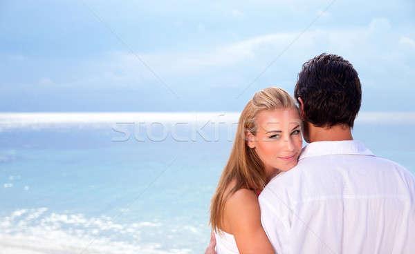 Wedding day on seashore Stock photo © Anna_Om