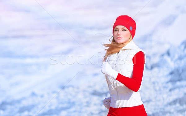 Egészséges lány fut szabadtér aktív női Stock fotó © Anna_Om