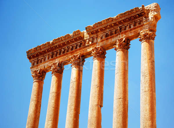 Jupiter's temple over blue sky, Baalbek, Lebanon Stock photo © Anna_Om
