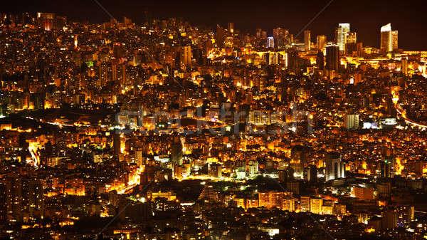 Night city background Stock photo © Anna_Om