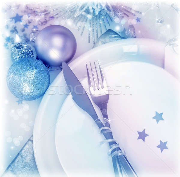 Christmastime silverware Stock photo © Anna_Om