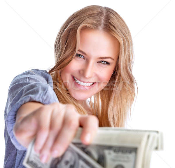 Happy rich girl Stock photo © Anna_Om