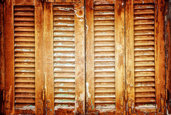 Vintage window shutters background Stock photo © Anna_Om