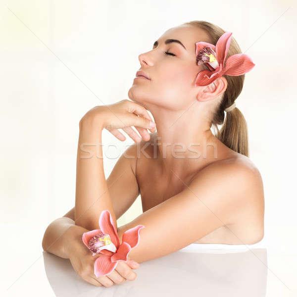 Pretty girl enjoying day spa Stock photo © Anna_Om