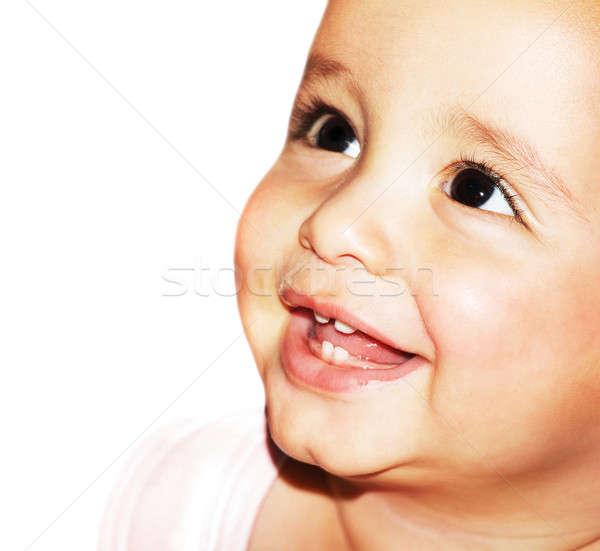 Bébé visage portrait belle heureux Photo stock © Anna_Om