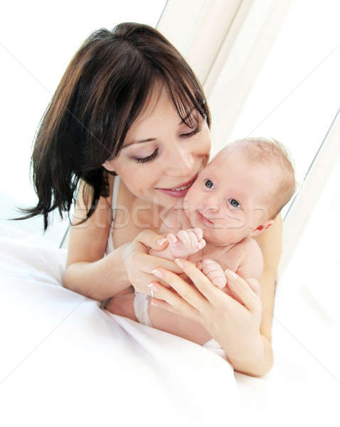 Happy mother with a baby Stock photo © Anna_Om