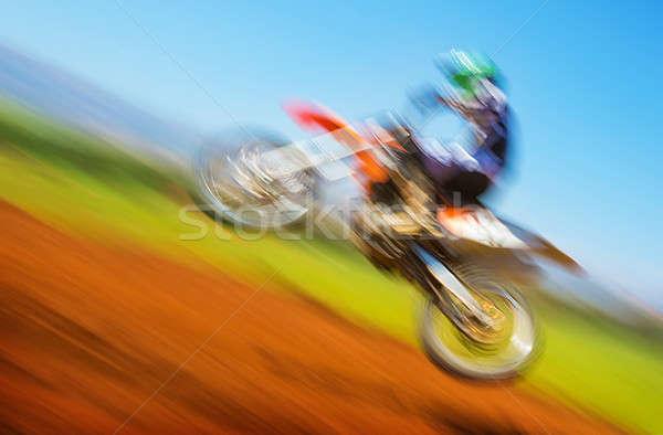 Biker on motocross Stock photo © Anna_Om