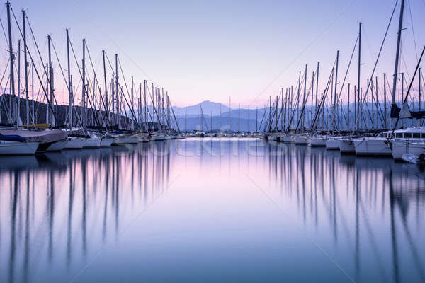 Yacht harbor in sunset Stock photo © Anna_Om