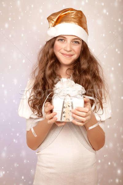 Dulce ayudante bastante muchacha adolescente Foto stock © Anna_Om