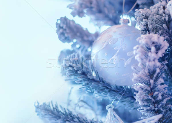 Beautiful Christmas tree decoration Stock photo © Anna_Om