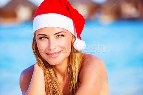 Navidad celebración caliente país primer plano retrato Foto stock © Anna_Om