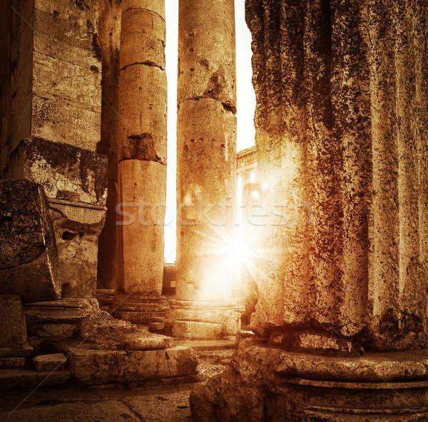 Tempel Libanon oude arabisch architectuur ruines Stockfoto © Anna_Om