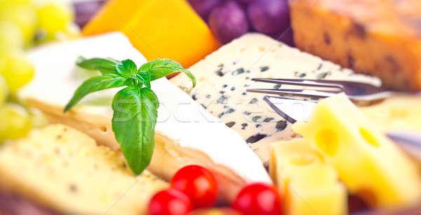 Tasty cheese background Stock photo © Anna_Om
