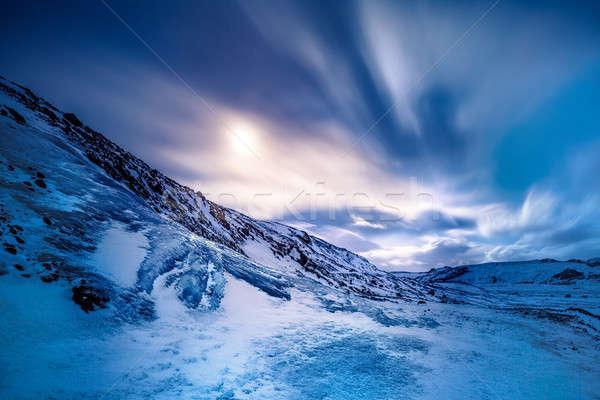Gleccser elképesztő kilátás jeges hegy fedett Stock fotó © Anna_Om