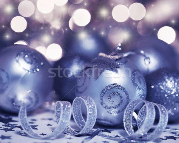 рождественская елка безделушка орнамент звездой украшение праздник Сток-фото © Anna_Om