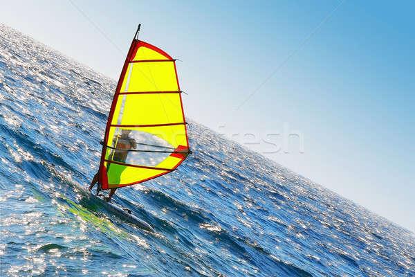 Windsurfer Stock photo © Anna_Om