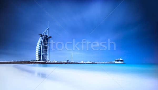 Burj Al Arab hotel on Jumeirah beach in Dubai Stock photo © Anna_Om