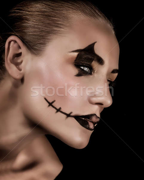 Creepy vampire portrait Stock photo © Anna_Om