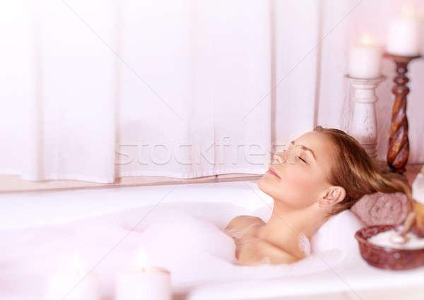 Calm female at spa Stock photo © Anna_Om