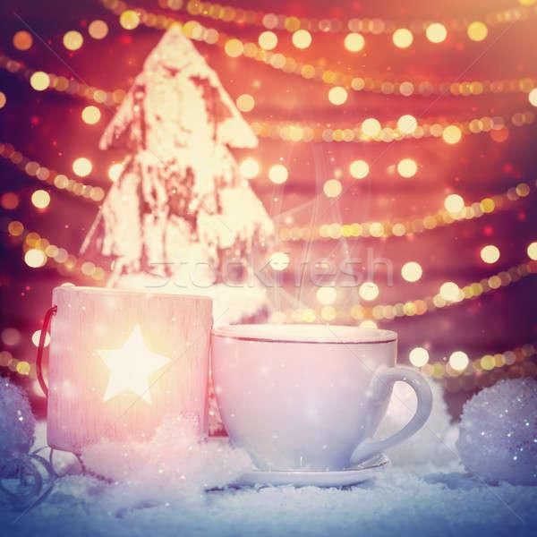 Bella Natale ancora vita piccolo decorato legno Foto d'archivio © Anna_Om