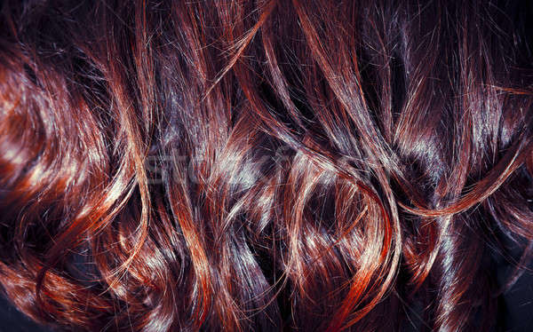 Brown curly hair background Stock photo © Anna_Om