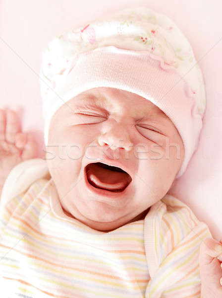 Cute little baby crying Stock photo © Anna_Om