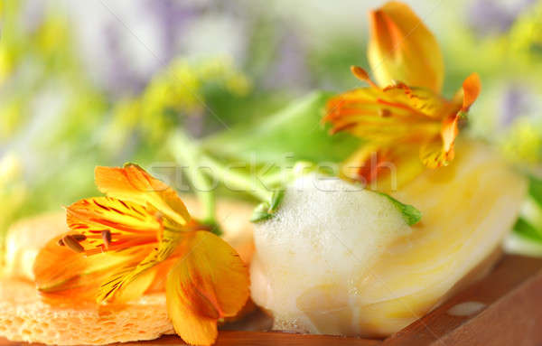 Soap with lily Stock photo © Anna_Om