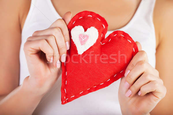 Red heart in hands Stock photo © Anna_Om