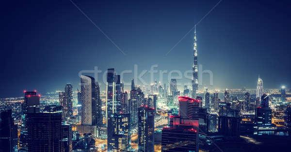Hermosa Dubai paisaje urbano aves ojo vista Foto stock © Anna_Om
