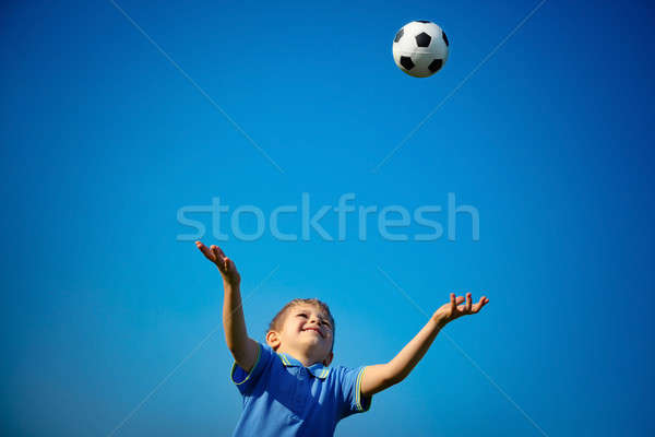 Happy boy playing ball Stock photo © Anna_Om