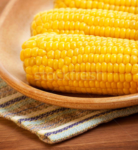 Sweetcorn on the plate Stock photo © Anna_Om