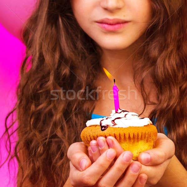Lovely birthday girl Stock photo © Anna_Om