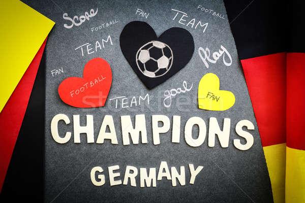Aficionados pared fútbol equipo campeonato victoria Foto stock © Anna_Om