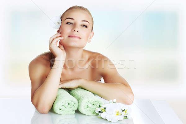 нежный девушки Spa салона время Сток-фото © Anna_Om