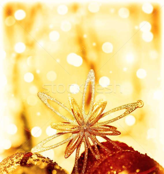 Christmas decoration star Stock photo © Anna_Om
