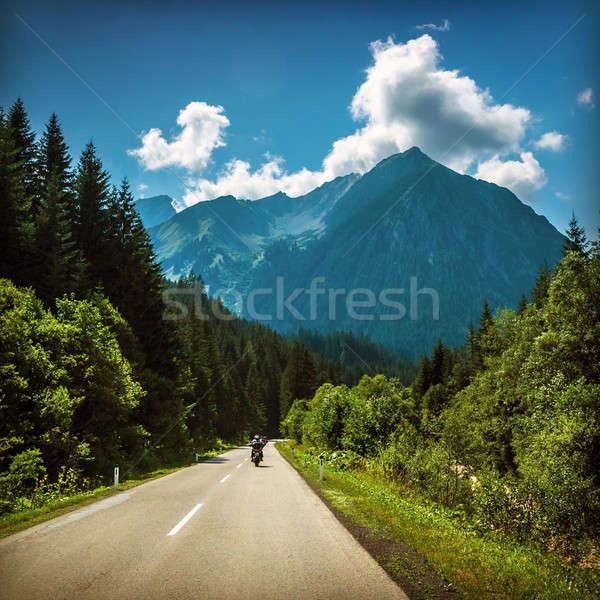 Rodovia equitação euro tour motocicleta estrada Foto stock © Anna_Om
