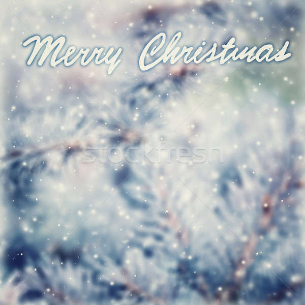 Klasszikus karácsony üdvözlőlap gyönyörű absztrakt szöveg Stock fotó © Anna_Om