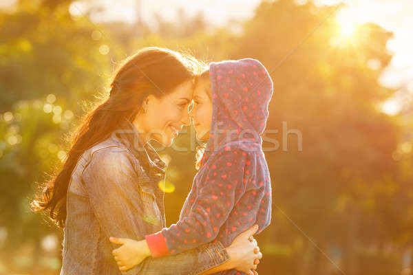 Happy mother with daughter Stock photo © Anna_Om