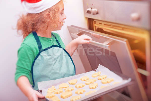 Сток-фото: мало · мальчика · Рождества · Cookies · Cute
