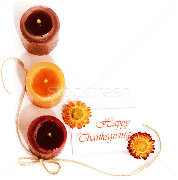 Thanksgiving holiday decorative border Stock photo © Anna_Om