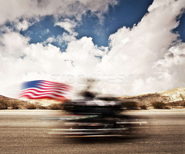 Rallentare movimento moto Blur movimento bike Foto d'archivio © Anna_Om