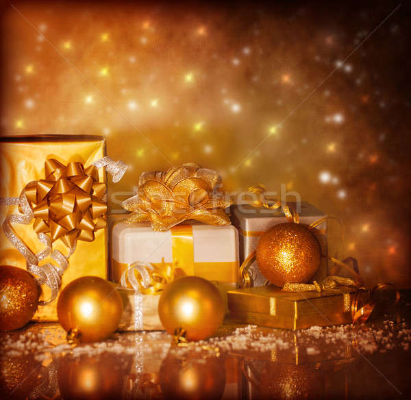 Christmas present boxes Stock photo © Anna_Om
