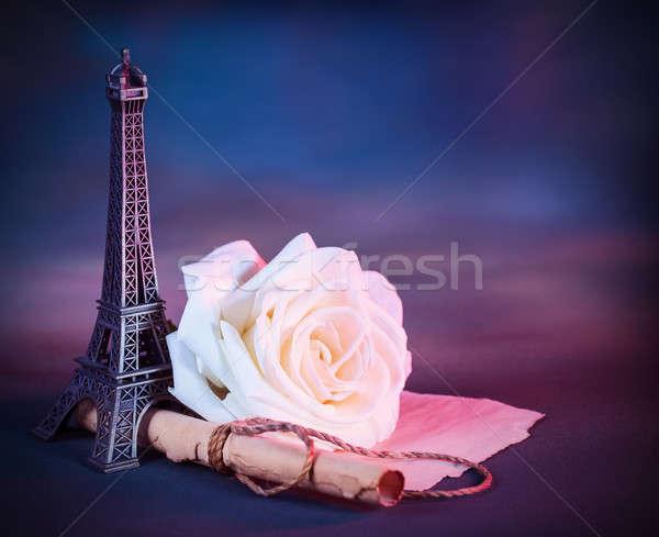 Romantyczny kartkę z życzeniami obraz świeże biały Zdjęcia stock © Anna_Om