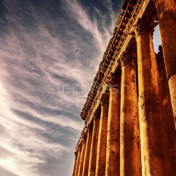 известный колонн фотография руин древних Ливан Сток-фото © Anna_Om
